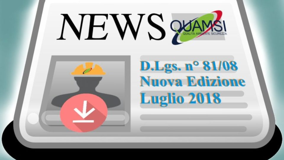 DLgs 81_2008 ed lug 2018