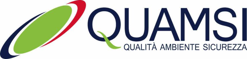 Logo ditta QuAmSi sas blu, verde e rosso